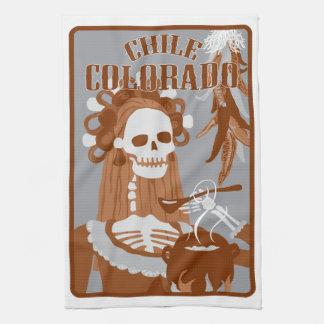chile Colorado: quemadura anaranjada Toallas De Cocina
