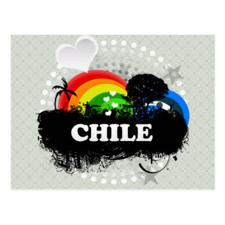Chile con sabor a fruta lindo tarjeta postal