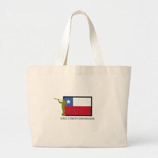 Chile Concepcion Mission LDS CTR Large Tote Bag
