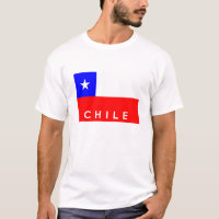 chile country flag text name T-Shirt