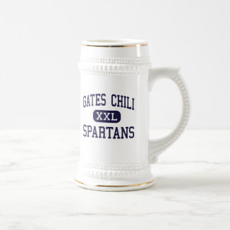 Chile de las puertas - Spartans - alto - Rochester Jarra De Cerveza