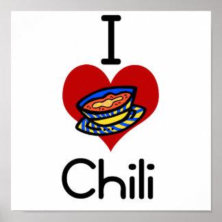 Chile del amor-corazón I Impresiones