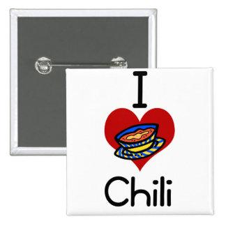 Chile del amor-corazón I Pin Cuadrado