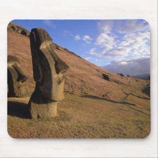 Chile, Easter Island. Hillside with Moai Mouse Pad