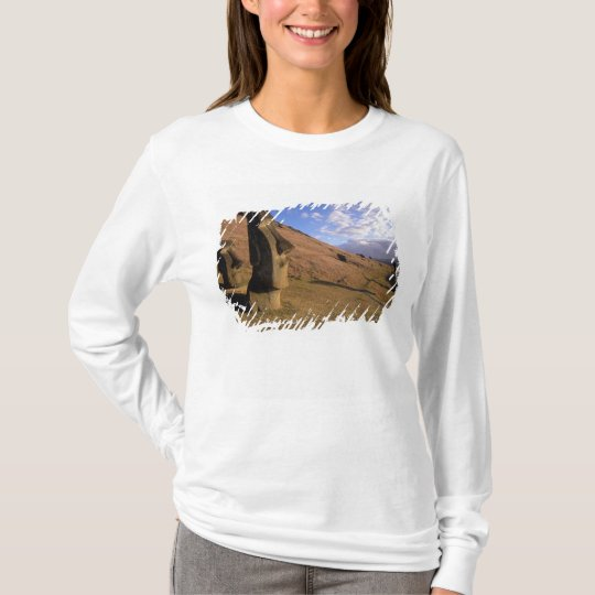 Chile, Easter Island. Hillside with Moai T-Shirt