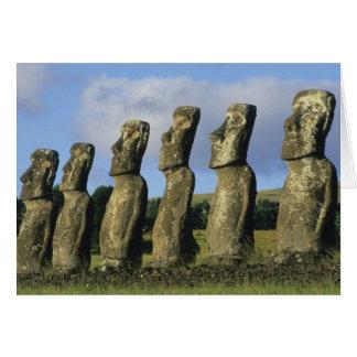 Chile, Easter Island, Rapa Nui, Ahu Akivi Card