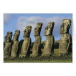 Chile, Easter Island, Rapa Nui, Ahu Akivi Cards