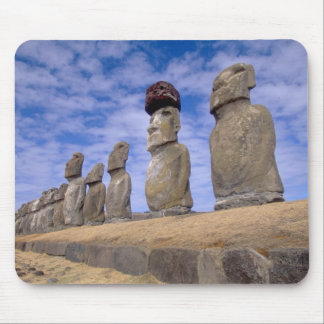 Chile, Easter Island. The 15 Moais at Ahu Mouse Pad