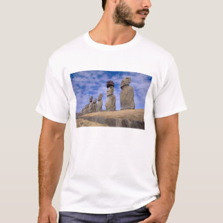 Chile, Easter Island. The 15 Moais at Ahu T-Shirt