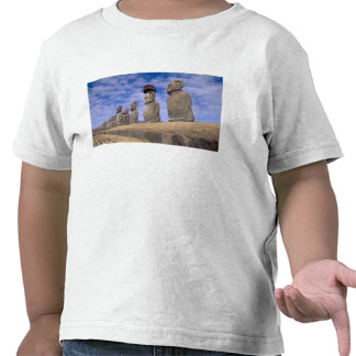 Chile, Easter Island. The 15 Moais at Ahu Tshirt