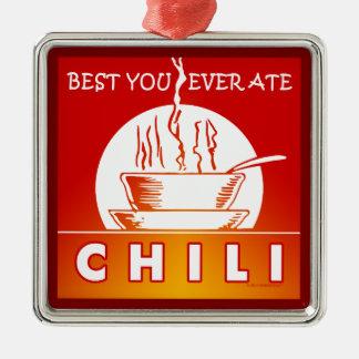 CHILE: El mejor usted comió nunca Adorno Navideño Cuadrado De Metal