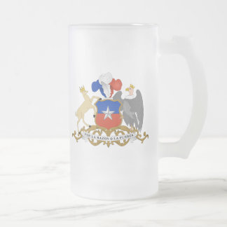 chile emblem 16 oz frosted glass beer mug