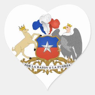chile emblem heart sticker