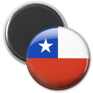 Chile Flag 2 Inch Round Magnet