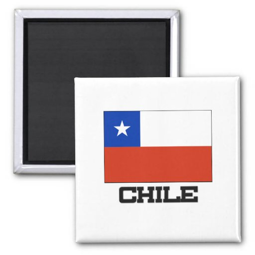 Chile Flag 2 Inch Square Magnet