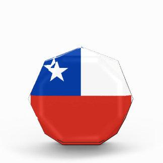 Chile Flag Acrylic Octagon Award