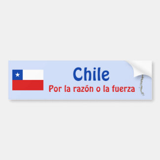 Chile Flag and Map Bumper Sticker