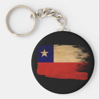 Chile Flag Basic Round Button Keychain