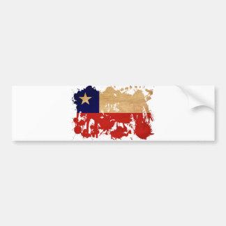 Chile Flag Car Bumper Sticker