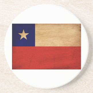 Chile Flag Drink Coaster