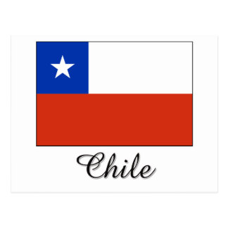 Chile Flag Design Postcard