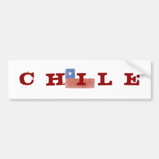Chile Flag distressed Car Bumper Sticker