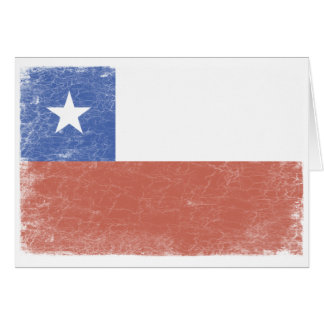 Chile Flag distressed Card