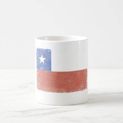 Chile Flag distressed Coffee Mug