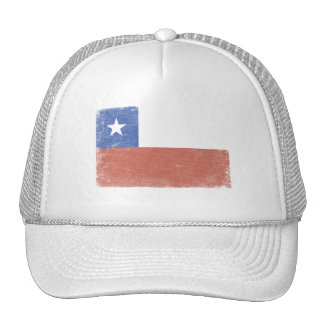 Chile Flag distressed Trucker Hat