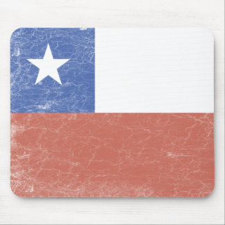 Chile Flag distressed Mouse Pad