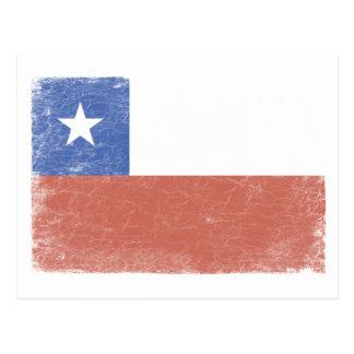 Chile Flag distressed Postcard