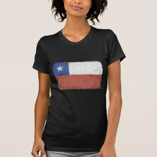 Chile Flag distressed T Shirt
