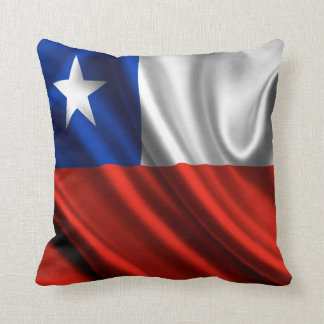 Chile Flag Fabric Throw Pillow
