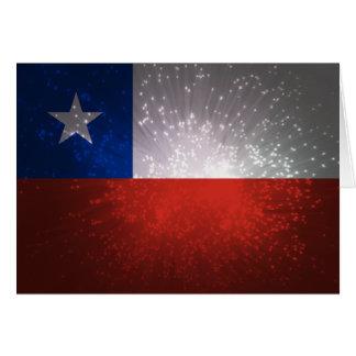 Chile Flag Firework Card