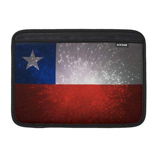 Chile Flag Firework Sleeve For MacBook Air