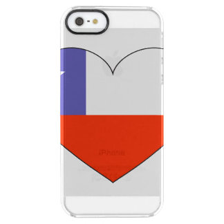 Chile Flag Heart Clear iPhone SE/5/5s Case
