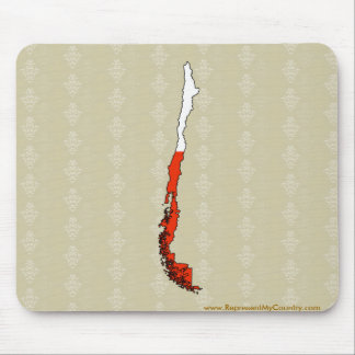 Chile Flag Map full size Mousepads