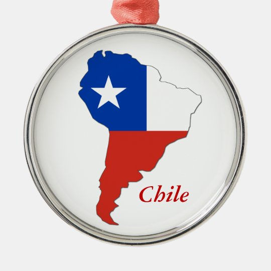Chile Flag Map South America Christmas Ornament