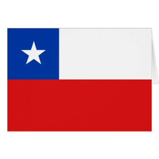 Chile Flag Notecard