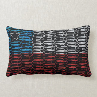 Chile Flag of Paperclips Lumbar Pillow