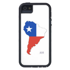 Chile Flag On Map Of South America Iphone 5 Case at Zazzle