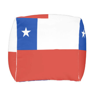 Chile Flag Outdoor Pouf