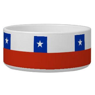 Chile Flag Pet Bowl