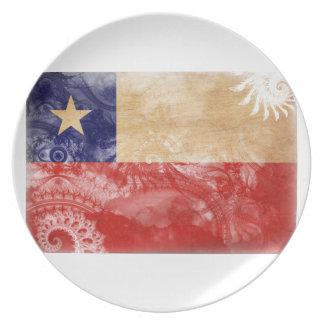 Chile Flag Plates