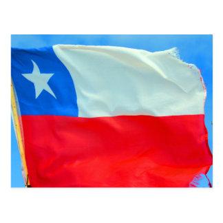 chile flag postcard