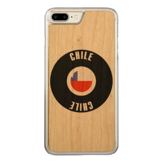 Chile Flag Simple Carved iPhone 7 Plus Case