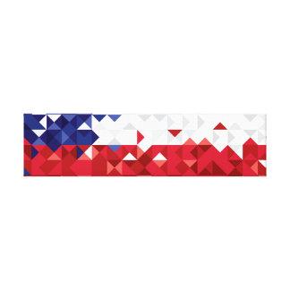 Chile Flag, Simple Chilean Colors Art Canvas