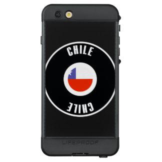 Chile Flag Simple LifeProof NÜÜD iPhone 6s Plus Case