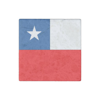 Chile Flag Stone Magnet