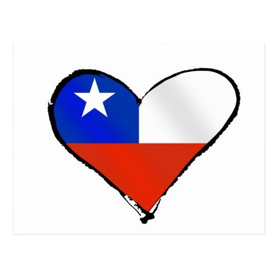 Chile Flag Te Amo Chile Chilean love and pride Postcard